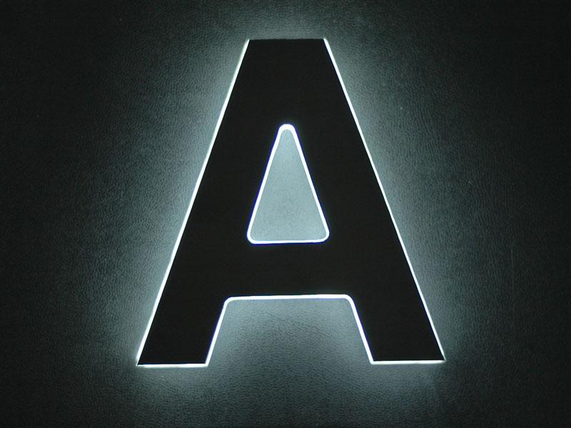 Dünne LED Leuchtreklame Buchstaben Rückleuchter